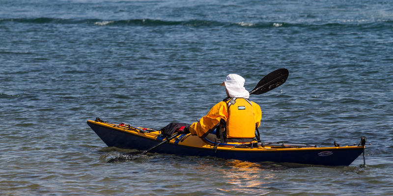 Solo kayaker
