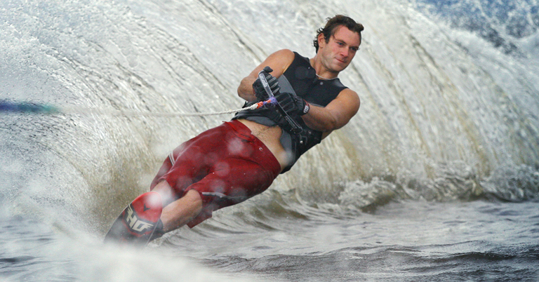 Photo of a water skier