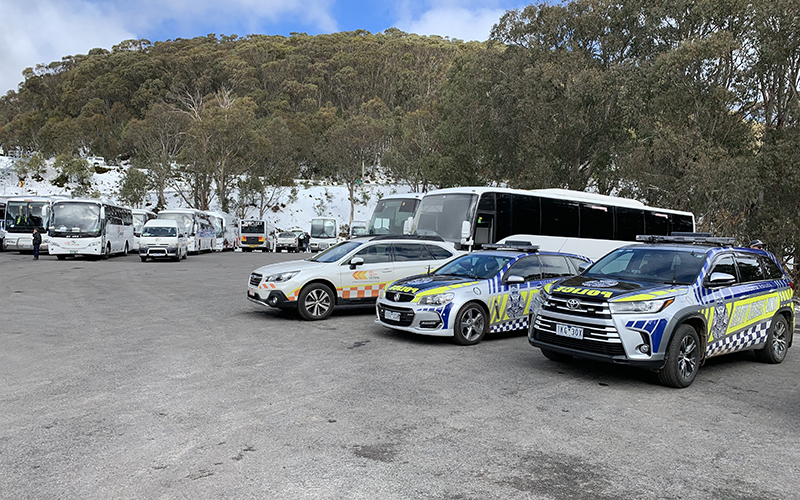 BSV and police cars