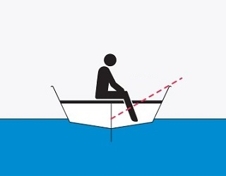 One person on a boat