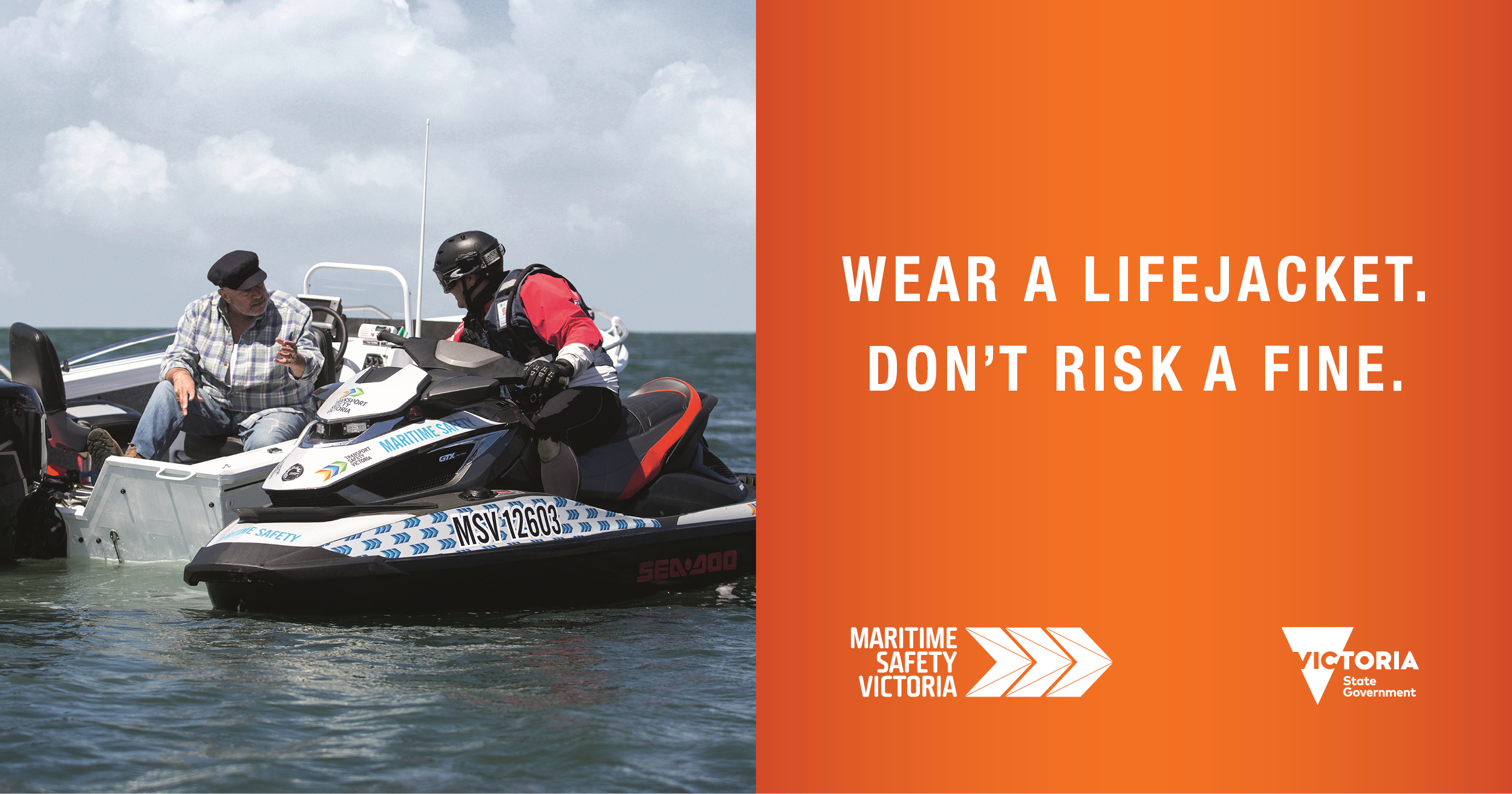 Wear a lifejacket, don't risk a fine