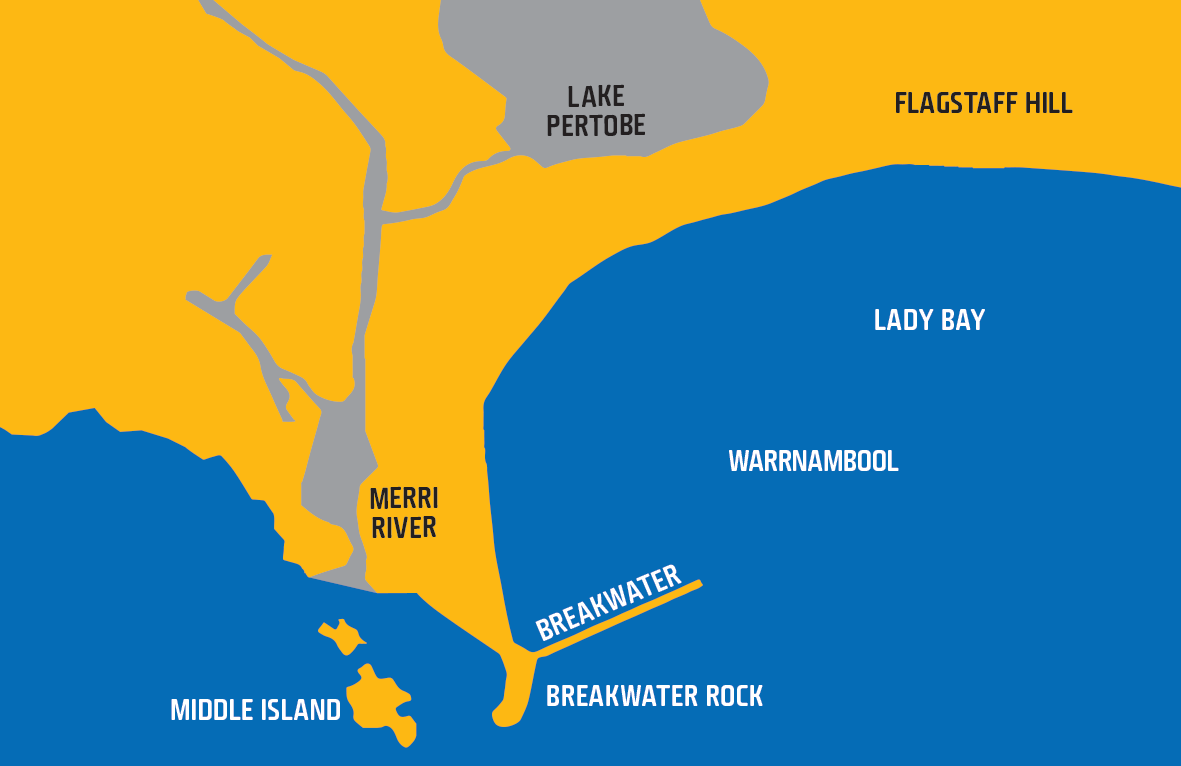 Map shows waters of Warrnambool