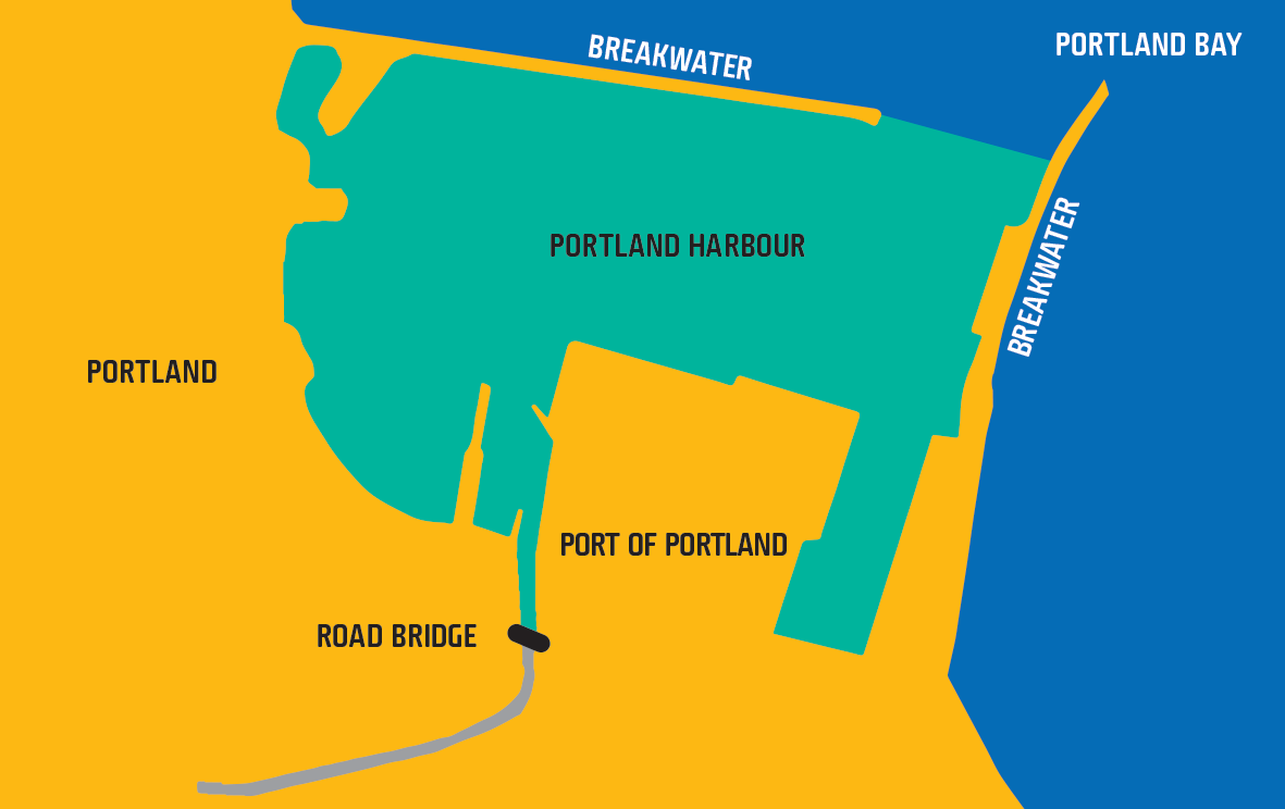 Map shows waters of Port of Portland