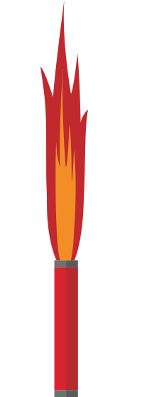Drawing of a distress flare