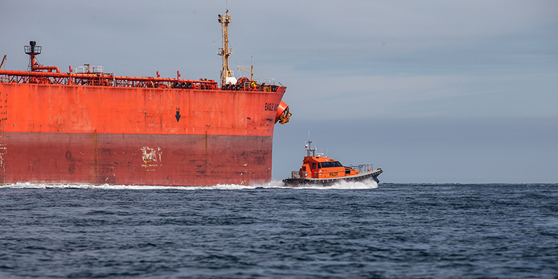 Ship and pilot boat