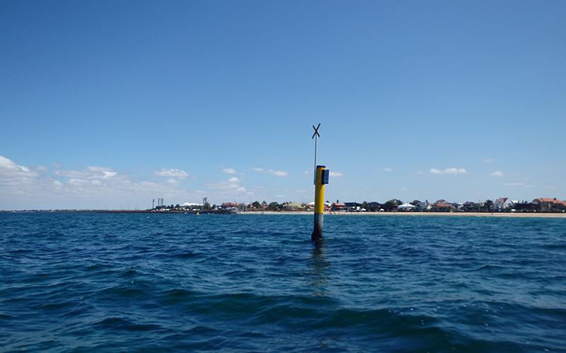 Navigational aid in choppy water