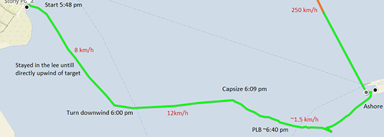 Stony Point capsize map