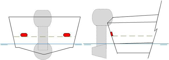 Transom diagram